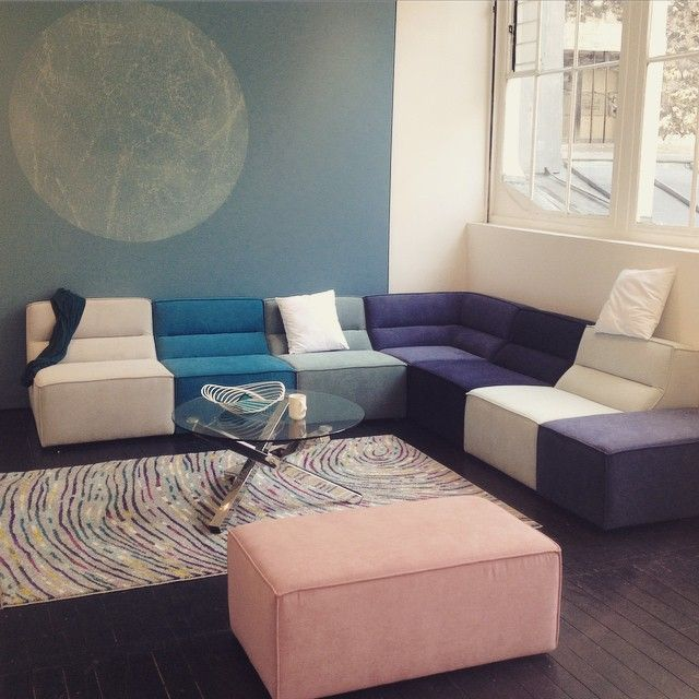 Composer son canapé soi-même c'est possible chez BUT #butcestnous #but #design #sofa #canape #blue #instadeco #pressday