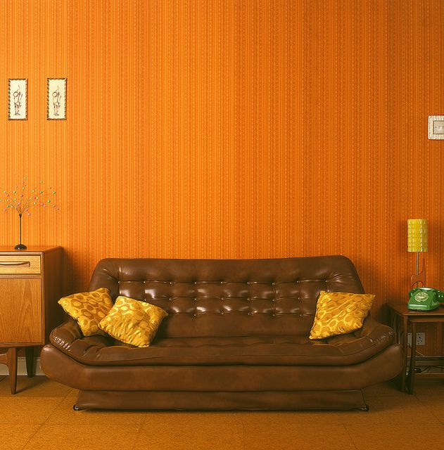 Affordable Retro Furniture: 1970s Living. Really Digging That Sofa!