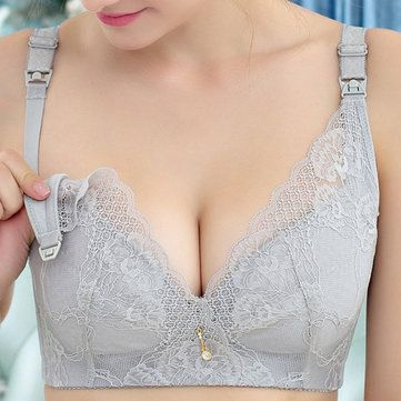 3d569a054be7c Maternity Wireless Front Closure Anti Sangging Breast Feeding Bras On Sale  - NewChic Mobile