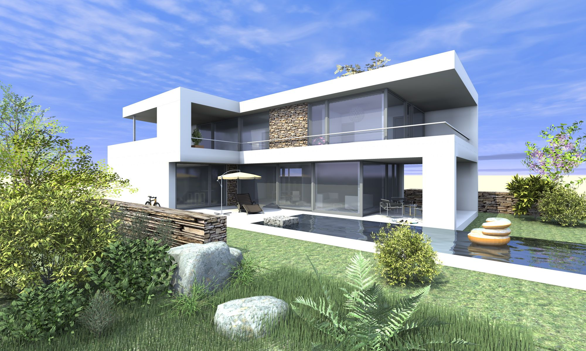 Planungsbüro AVANTECTURE > Neubau in moderner Architektur