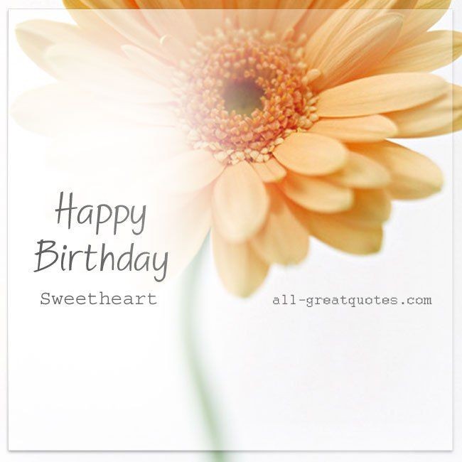 Happy Birthday Sweetheart Quotes Birthday Cards For Facebook