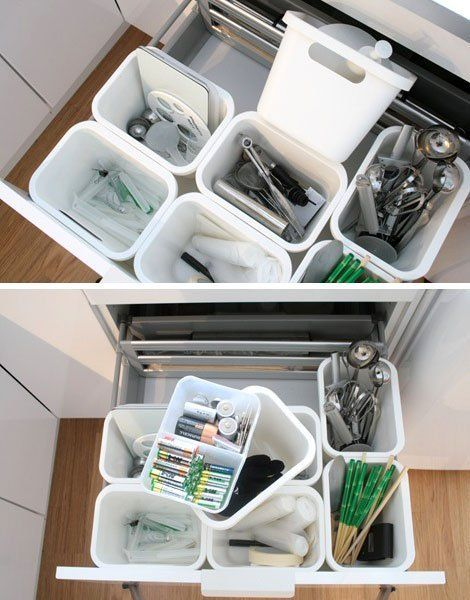 A Smart Organizing Solution For Deep Kitchen Drawers | Kitchen Ideas on ideas for organizing refrigerator, ideas for organizing closets, ideas for organizing tools, ideas for small kitchen, ideas for organizing living room furniture, ideas for home organization, ideas for organizing toys,