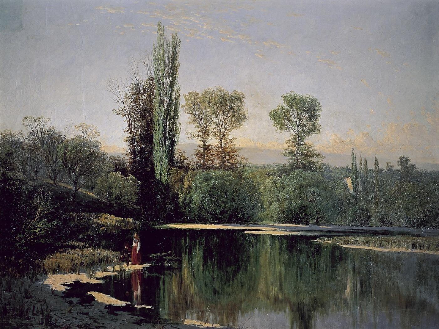 Seraf n avenda o paisaje de la casa de campo 1861 - Paisajes de casas de campo ...