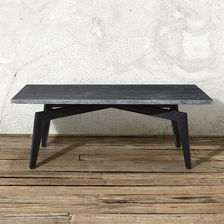 Shaw 48 Rectangle Coffee Table With Bluestone Top Arhaus Furniture Coffee Table Coffee Table Rectangle Round Wooden Coffee Table