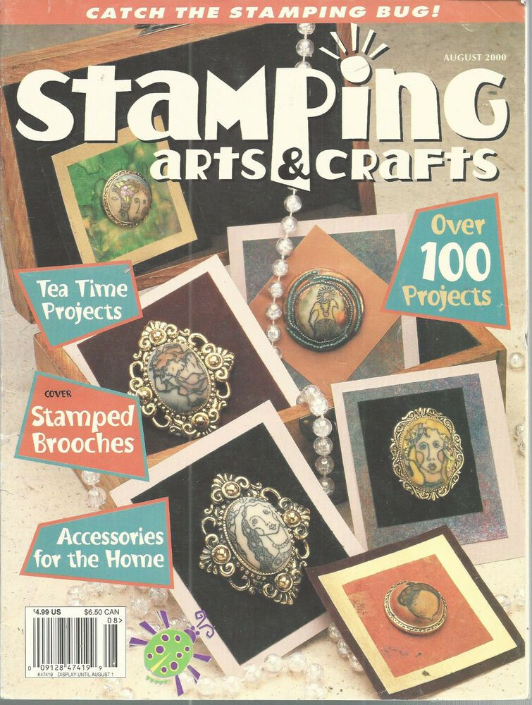 Stamping Arts Crafts Magazine August 2000 Rubber Stamps Scrapbooking Cards Doesnotapply Scrapbooking Stamps Crafts Scrapbook Cards