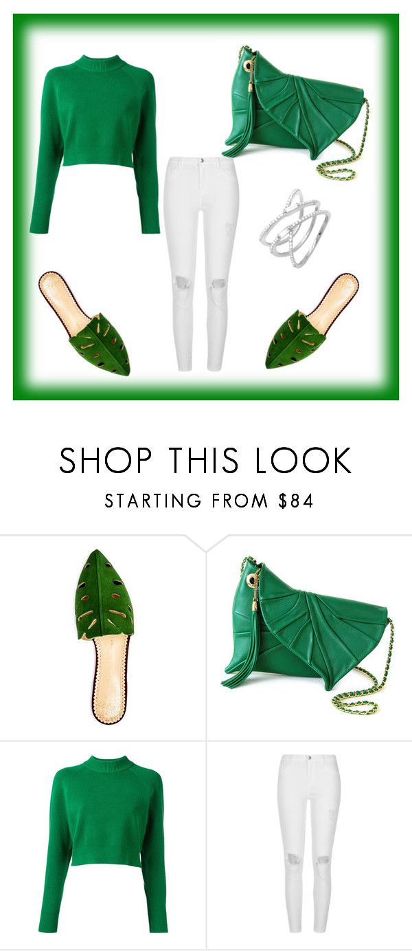 """""""Green"""" by eminad ❤ liked on Polyvore featuring Charlotte Olympia, DKNY and River Island"""