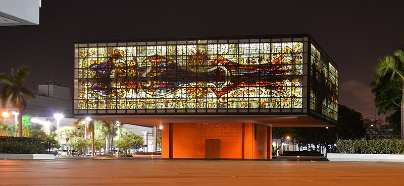 Picture of the YoungArts Jewel Box, at night. On Wikipedia ...