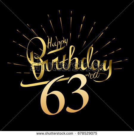 63rd Happy Birthday Logo Beautiful Greeting Card Poster With