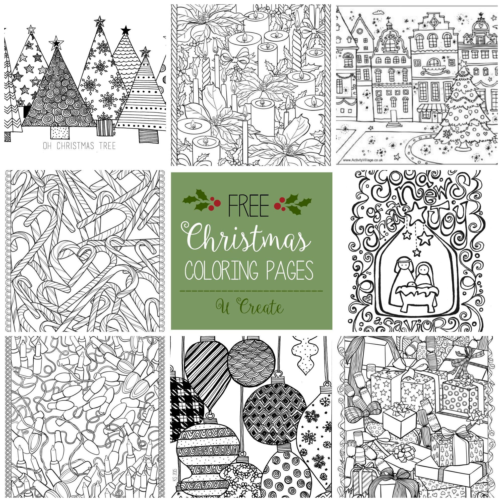 Merry Christmas Coloring Banner (U Create) | Adult coloring ...