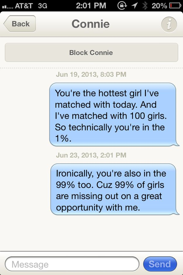 Witty messages for online dating