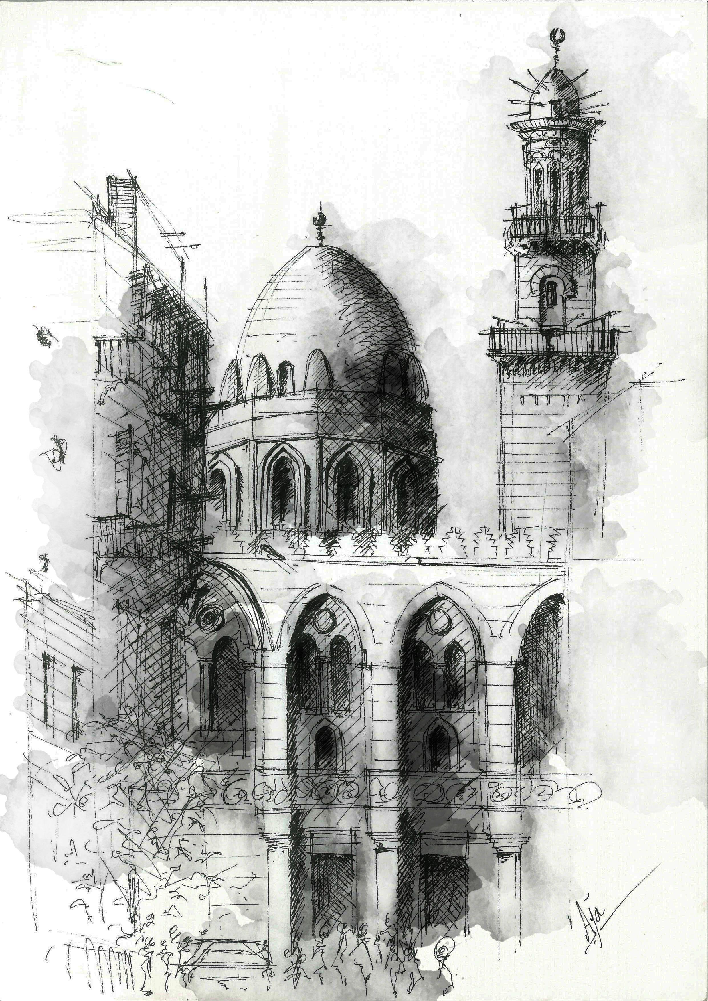 Mausoleum of sultan qalawun located on al mu 39 izz street for Architecture design company in egypt
