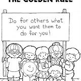 The Golden Rule Color Sheet Preschool Sunday School Lessons