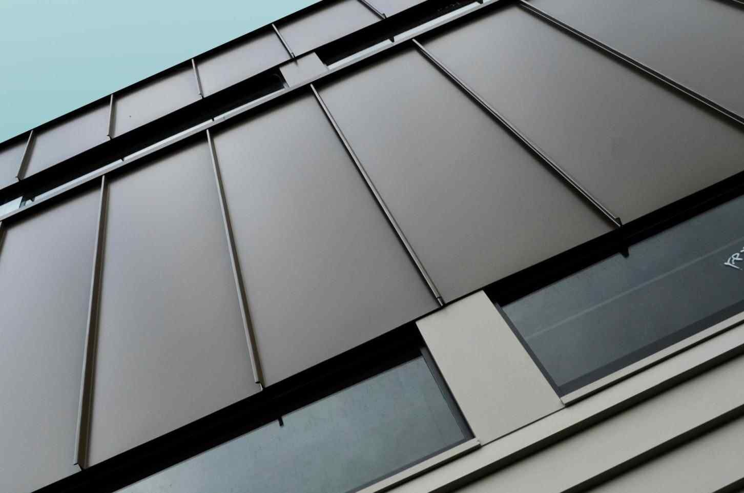 Single Seam Metal Roof Cladding, Wall cladding designs
