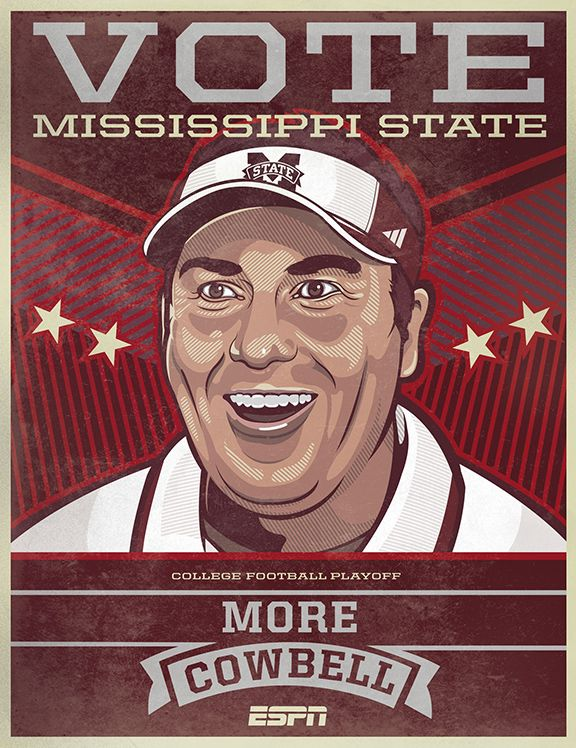 ESPN College Football Campaign Posters on Behance Espn