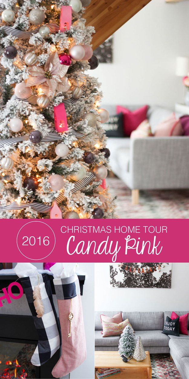 Candy Pink Christmas Inspiration Holiday home tour