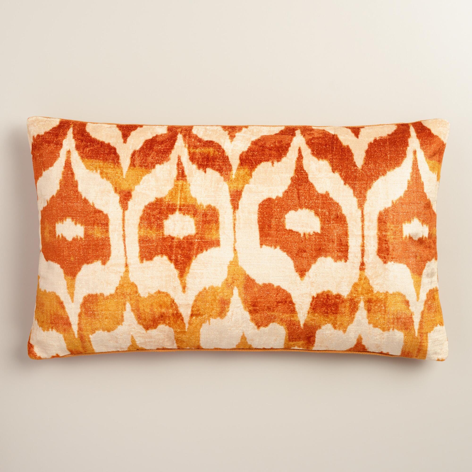 pillow orange product coral cushychic slipcover x lumbar