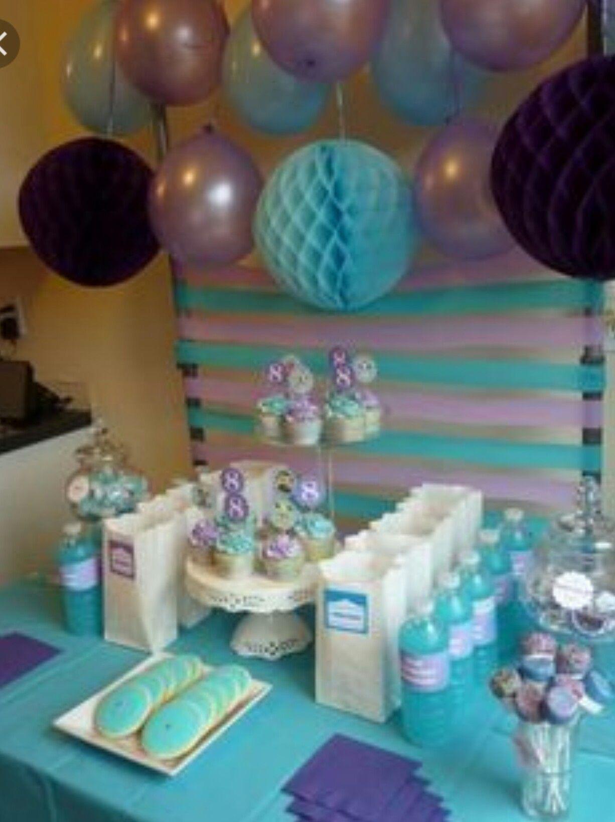 Birthday Party Ideas Aqua Baby Showersbaby Shower Purplefrozen
