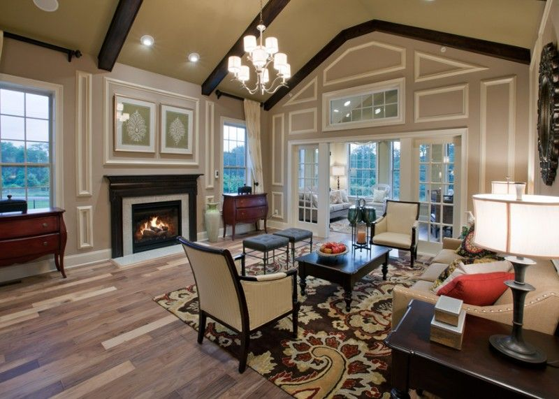 17 Charming Living Room Designs With Vaulted Ceiling #vaultedceilingdecor