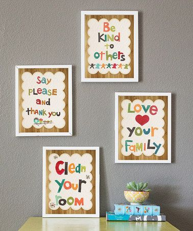 Loving this Good Manners Print Collection on #zulily! #zulilyfinds