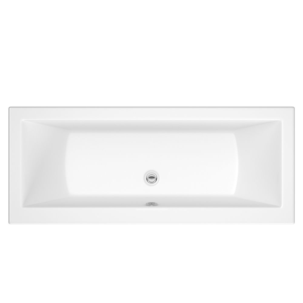Milano Elswick White Modern Double Ended Standard Bath 1700mm X 700mm Baignoire Rectangulaire Baignoire Terrasse Interieure