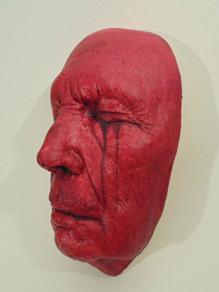 Dominic Murphy Art Sculpture Mask of the Red Death Vincent Price Life Death mask