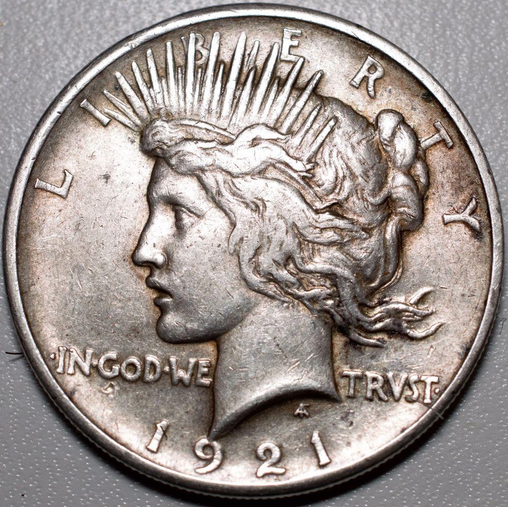 1921 1 Peace Dollar Km 150 Vf Key Date Free Usa Shipping