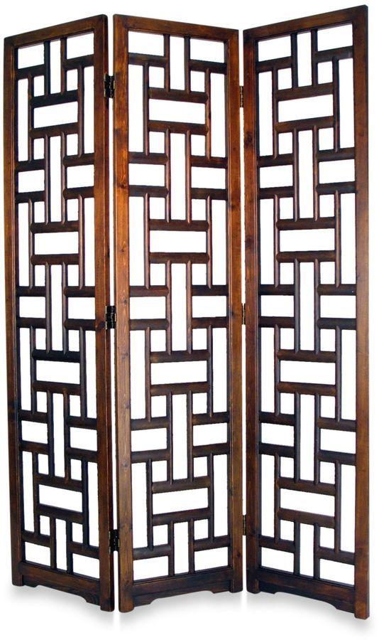 Dark Wood Room Divider Is Elegant In An Earthy Decor Scheme