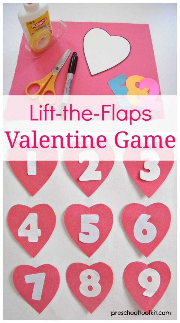 fun lift the flaps valentine game to play with preschoolers