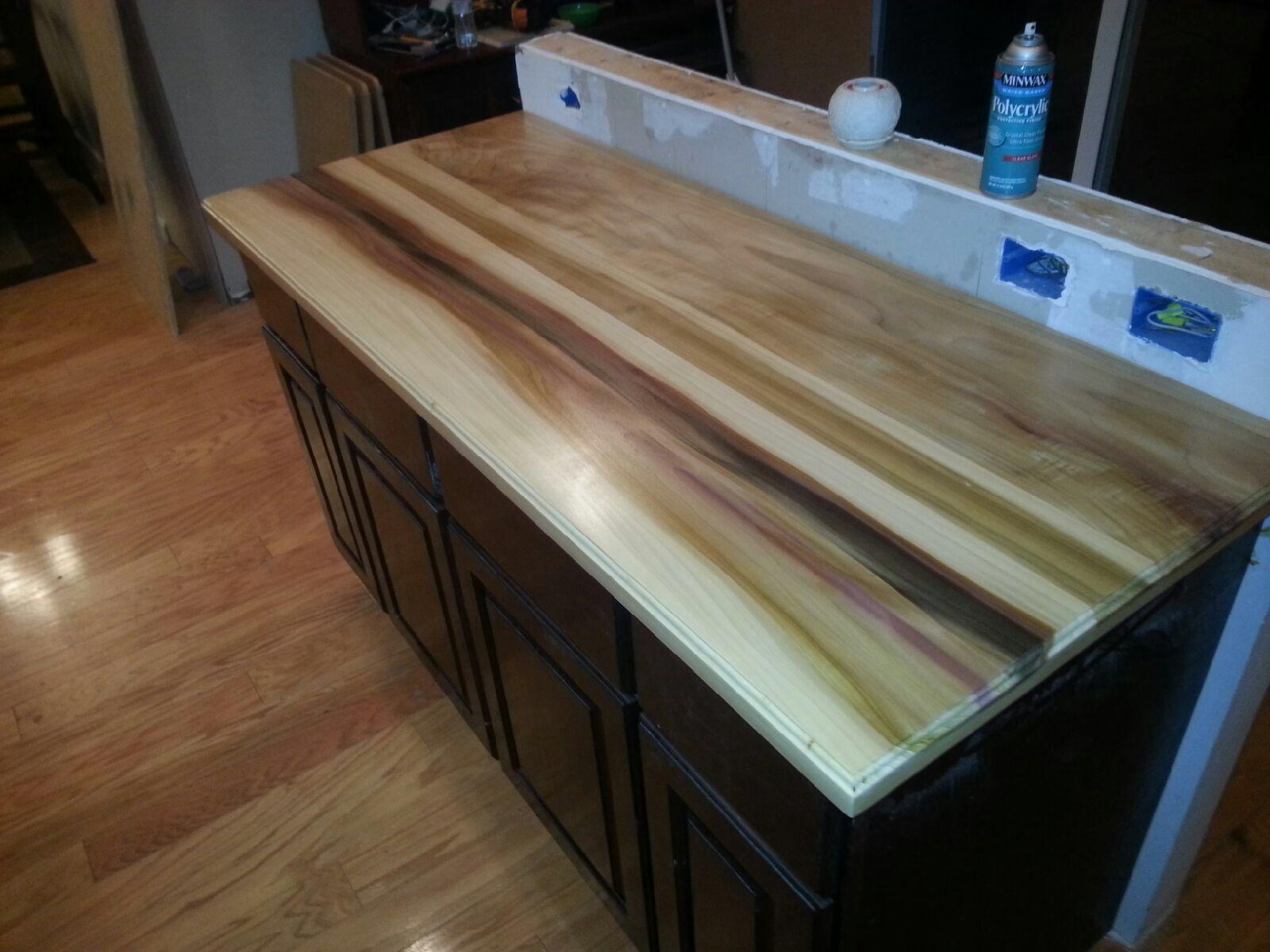 Poplar wood countertops