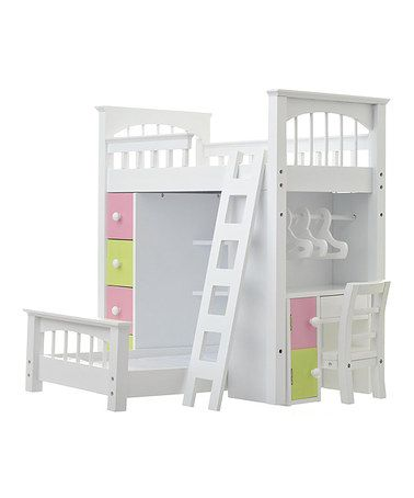 Look at this #zulilyfind! Doll Loft Bed Set by Laurent Doll ...