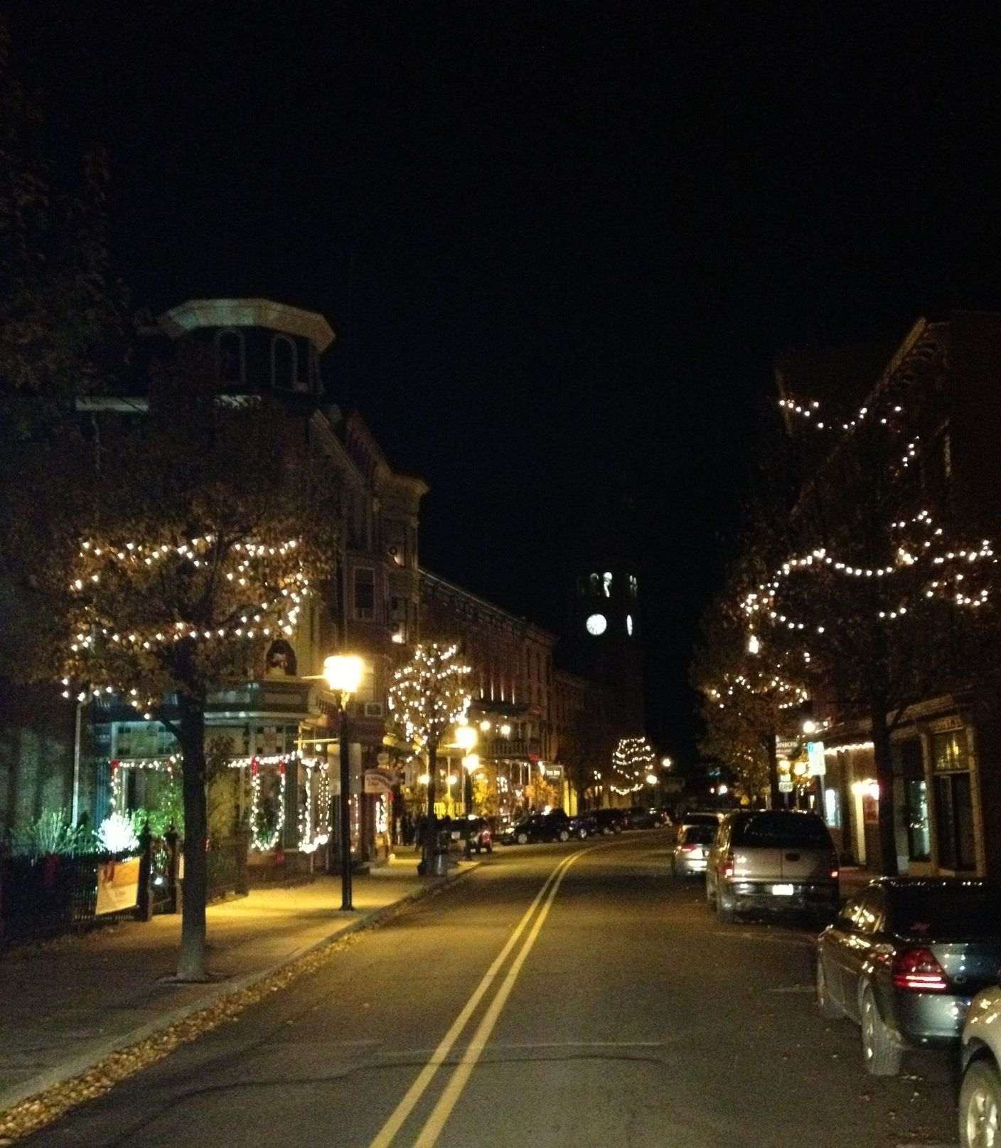 Jim Thorpe starting to light up for the holiday season!