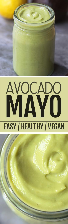 How to make healthy avocado mayonnaise, using just basic