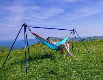 eno u0027s nomad hammock stand lets you hang anywhere you want eno u0027s nomad hammock stand lets you hang anywhere you want   gifts      rh   pinterest