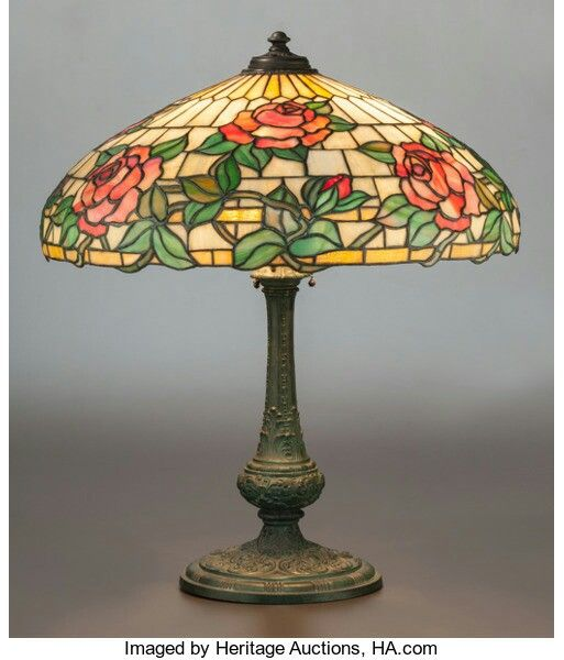Wilkinson leaded glass and bronzed metal rose table lamp circa 1930 wilkinson leaded glass and bronzed metal rose table lamp circa 1930 27 inches high 686 aloadofball Gallery