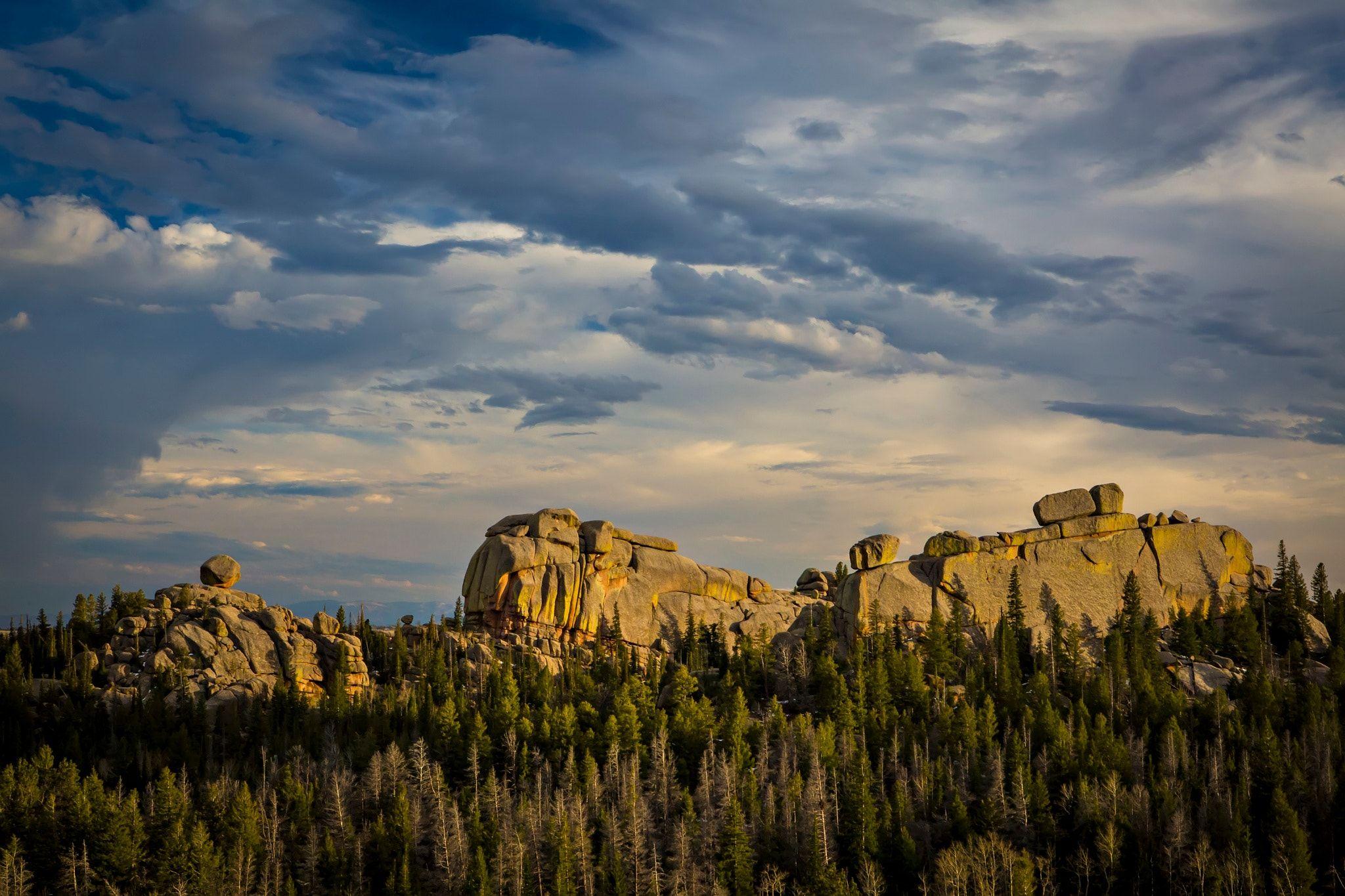 Vedauwoo Laramie Wy Spring Sunset At Vedauwoo A