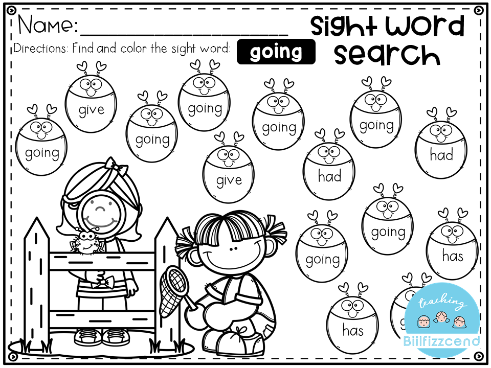 FREE Sight Word Search. This Sight Word Search (Color by sight words ...