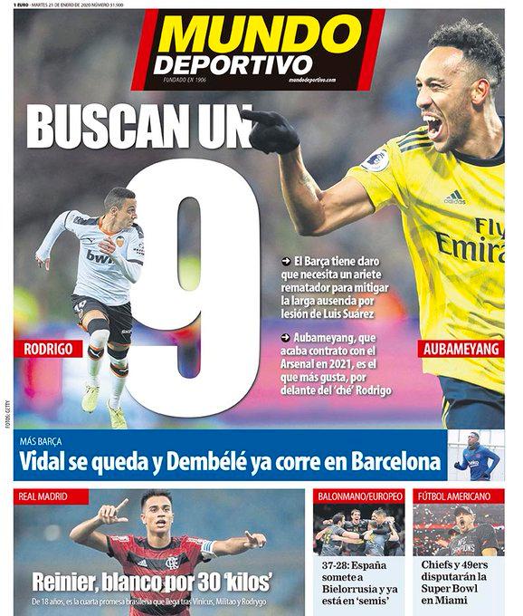 """Mundo Deportivo en Twitter """"🗞️ La portada del martes 21"""