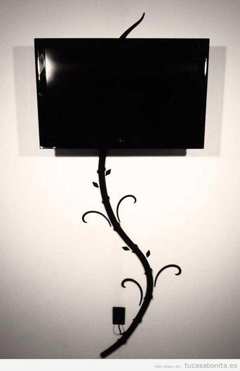Ideas Para Esconder O Disimular Cables En La Pared 2 Televisores En La Pared Tv En Pared Ideas De Decoracion De La Habitacion