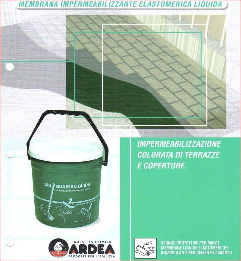 Mg guaina liquida impermeabilizzante elastomerica for Guaina liquida mapei