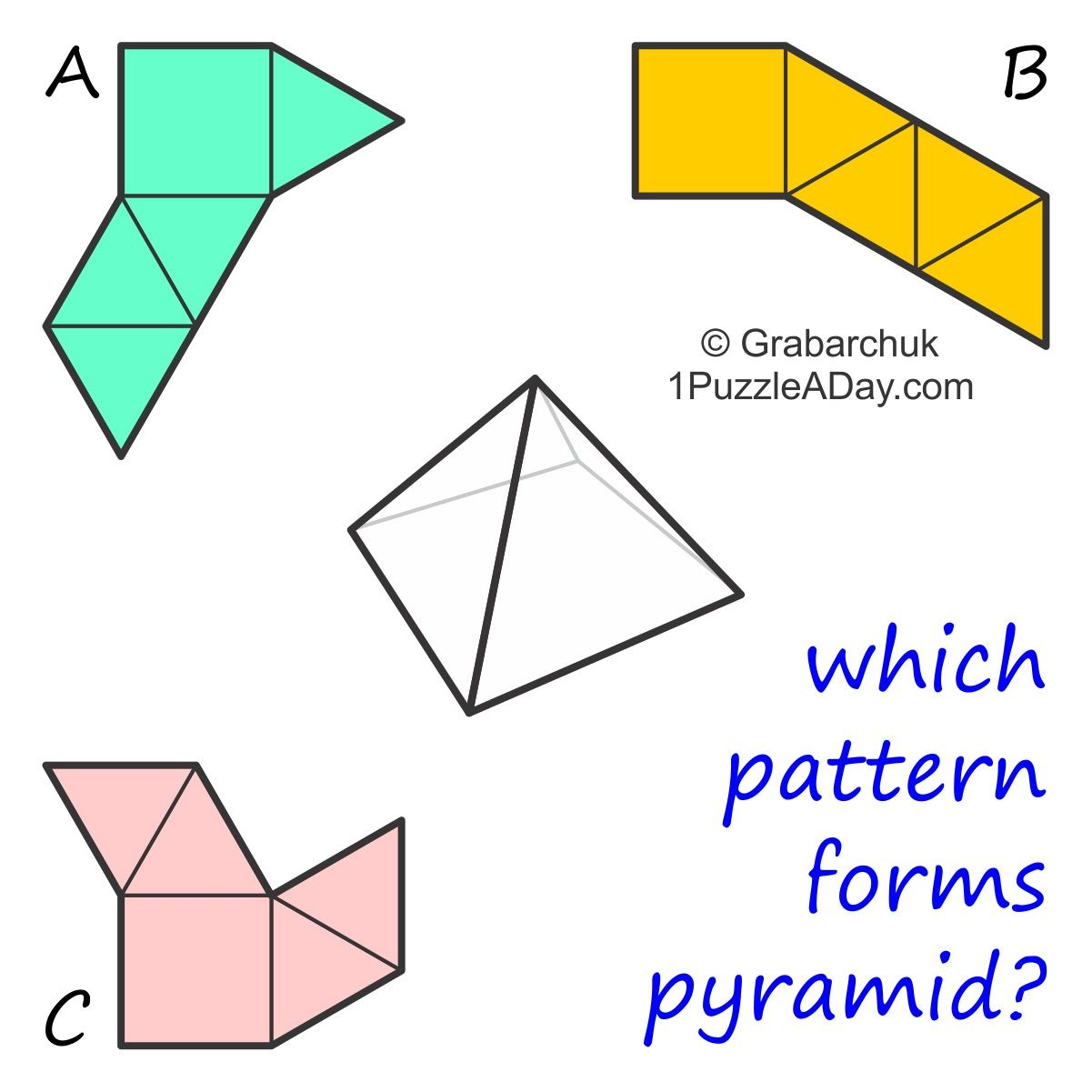 1puzzleaday Which Pattern Forms Pyramid More At