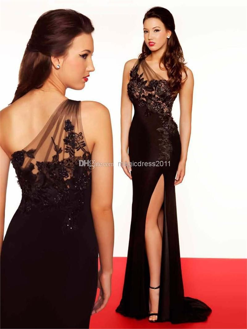 Cheap evening gowns discount high side slit evening dresses