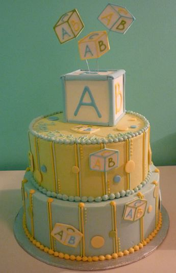 this beautiful baby shower cake features pastel baby blocks that, Baby shower invitation