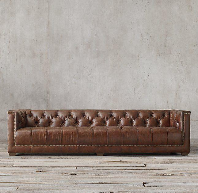 Savoy Leather Sofa. Restoration Hardware. More Modern...similar To West Elm