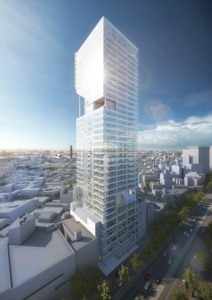 Gallery of richard meier unveils 180 meter tower development in gallery of richard meier unveils 180 meter tower development in mexico 9 sciox Images