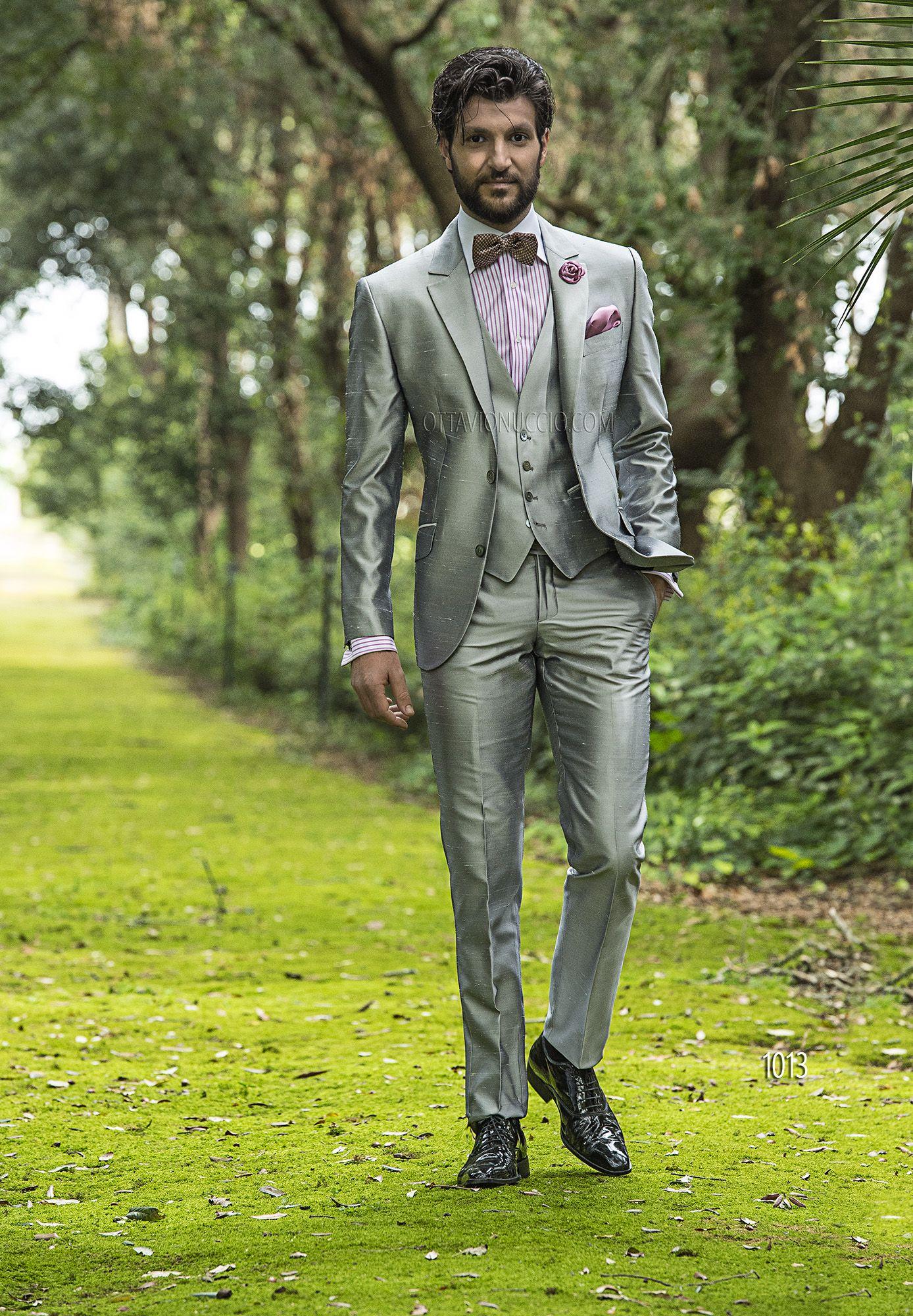 Hipster Matrimonio Uomo : Abito da cerimonia uomo in shantung grigio perla moda uomo