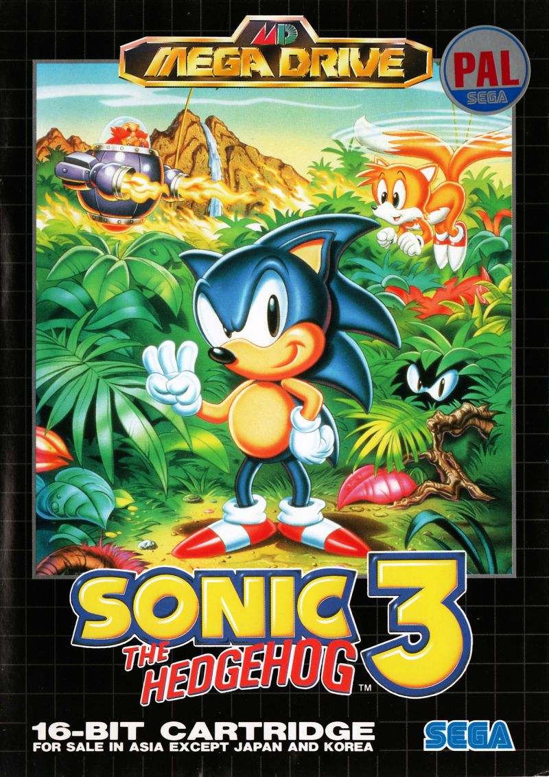 Sonic 3 Sega Megadrive Cover Art Retrogames Retro Gaming Art