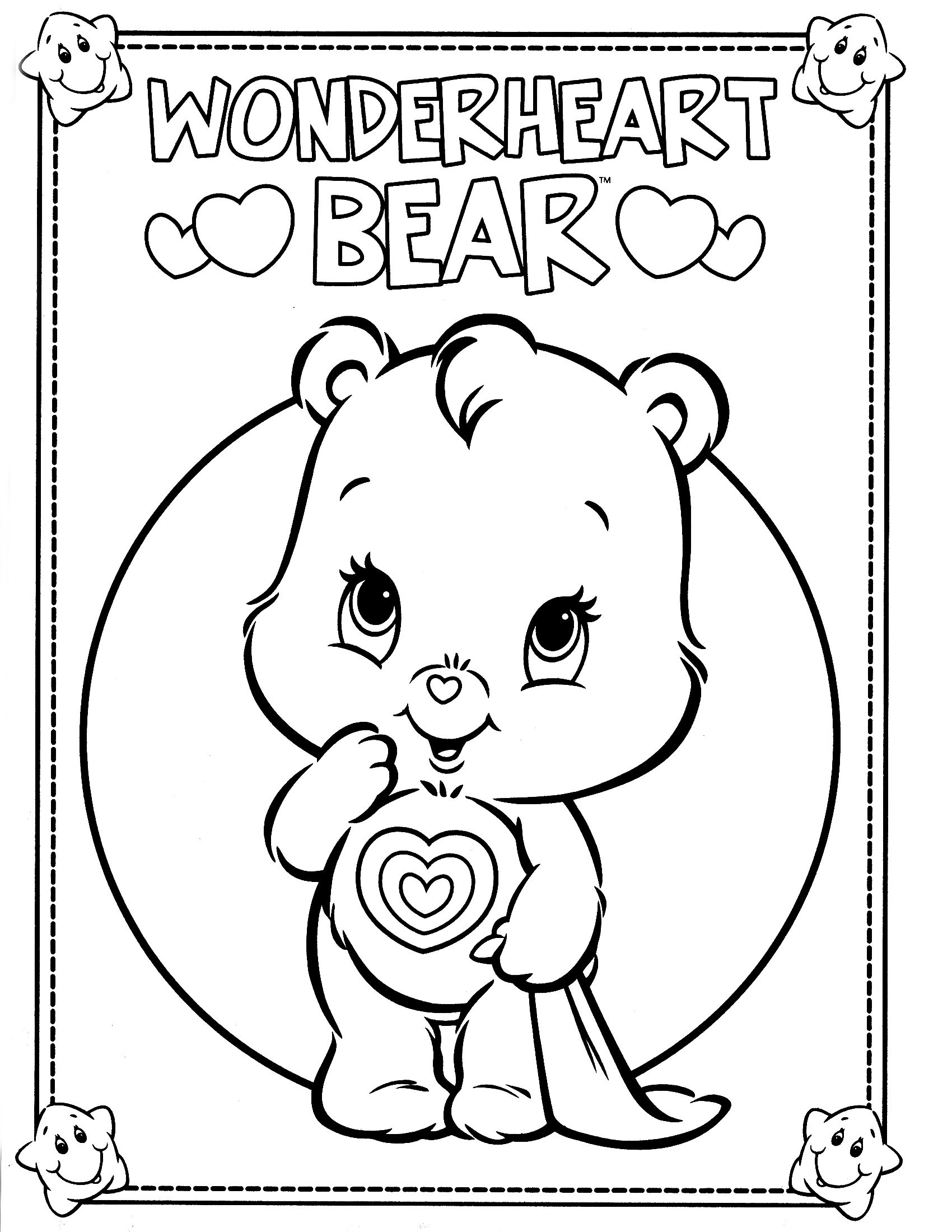 coloring pages for care bares - photo#34