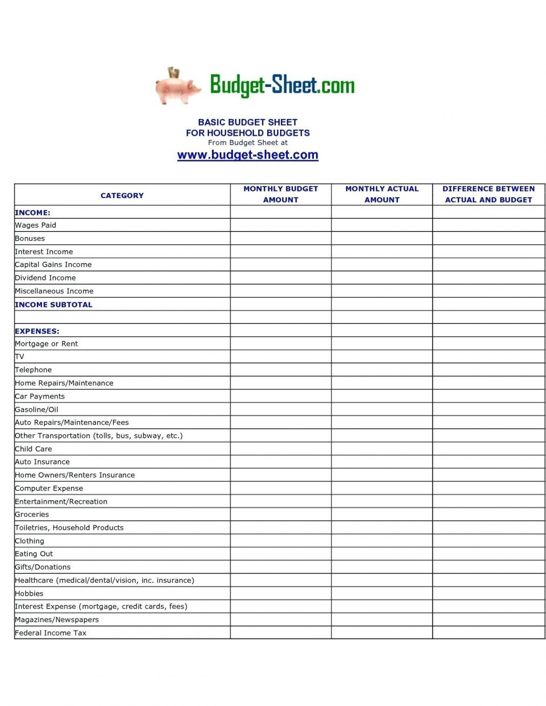 Family Budget Template Weekly Monthly Google Sheets Inside Usmc Meal Card Template Sample Pr Family Budget Template Budgeting Worksheets Monthly Budget Excel