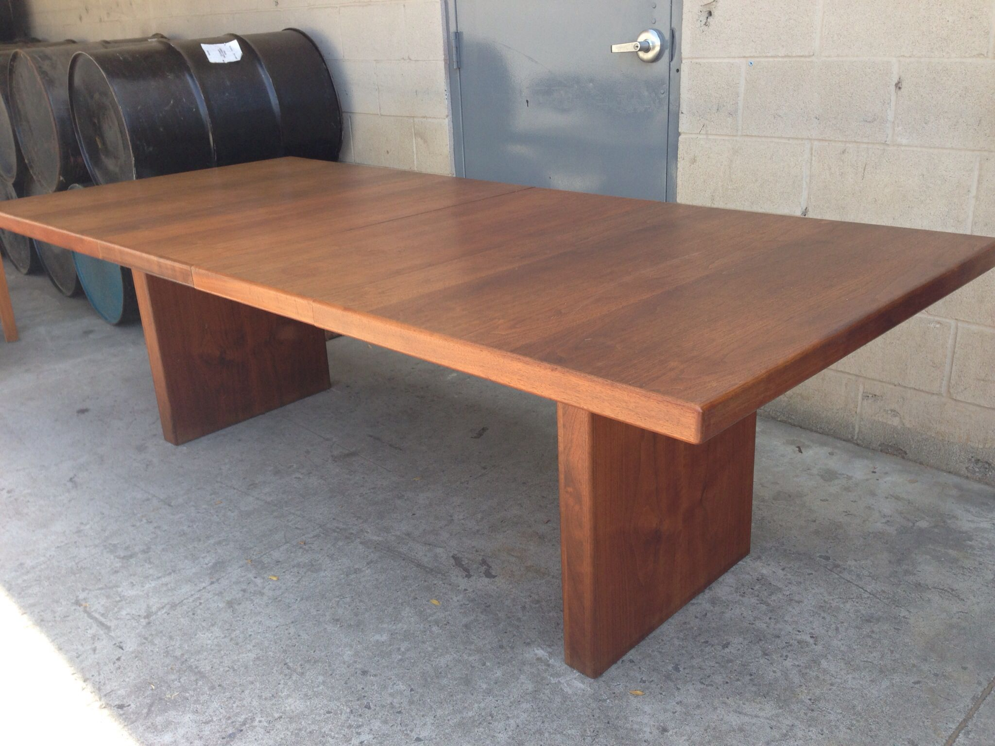 Mid Century Teak Dining Or Conference Table Huge With Leaves - Mid century conference table