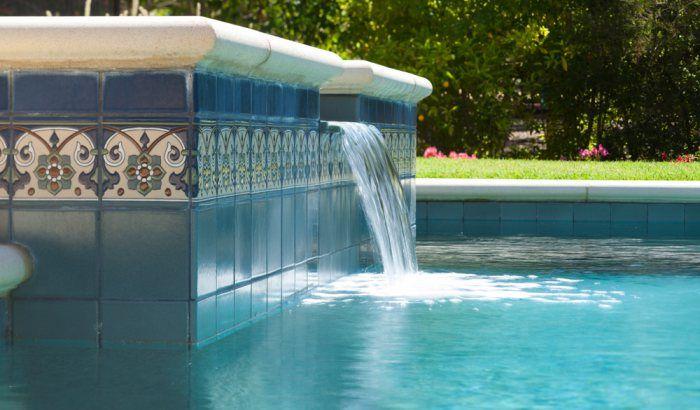 Classic Cuerda Seca Pool | Installation Gallery | Fireclay Tile